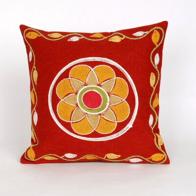 Raggs Visions III Maroma Throw Pillow Color: Red