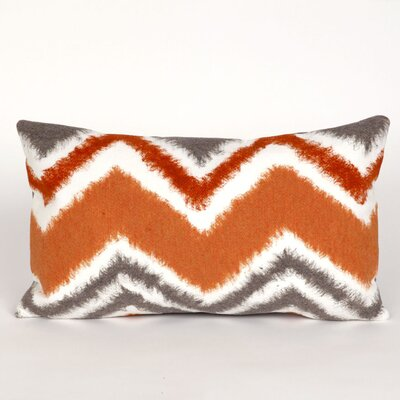 Tengan Zigzag Ikat Lumbar Pillow Color: Orange