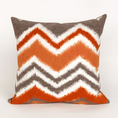 Tengan Zigzag Ikat Throw Pillow Color: Orange