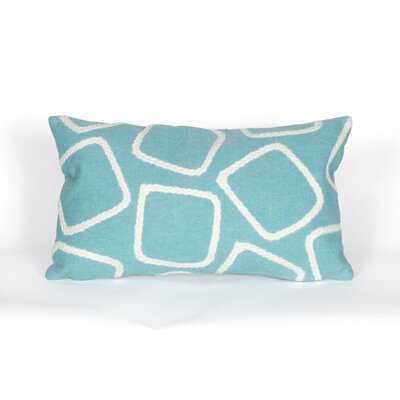 Colley Lumbar Pillow Color: Aqua