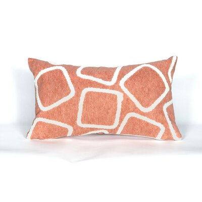 Colley Lumbar Pillow Color: Coral