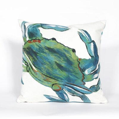 Bluffs Blue Crab Throw Pillow