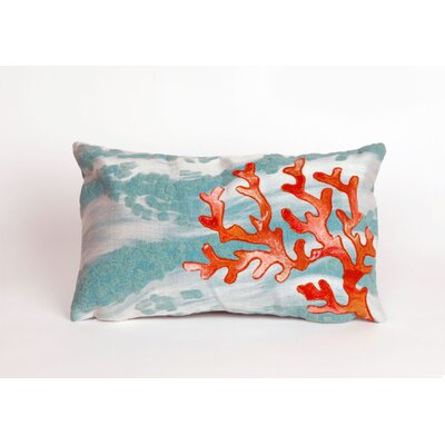Bluffs Coral Wave Lumbar Pillow