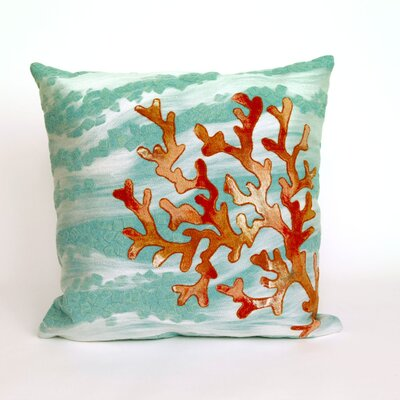 Bluffs Coral Throw Pillow
