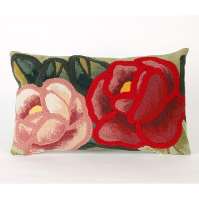 Greber Crochet Flower Lumbar Pillow
