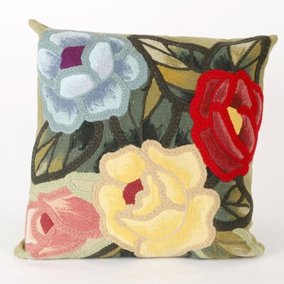 Greber Crochet Flower Throw Pillow