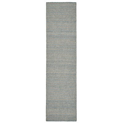 Blueridge Hand-Woven Blue Indoor/Outdoor Area Rug Rug Size: Runner 2 x 8
