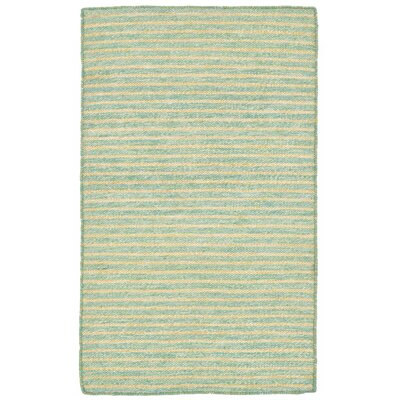 Blueridge Hand-Woven Aqua Indoor/Outdoor Area Rug Rug Size: 36 x 56
