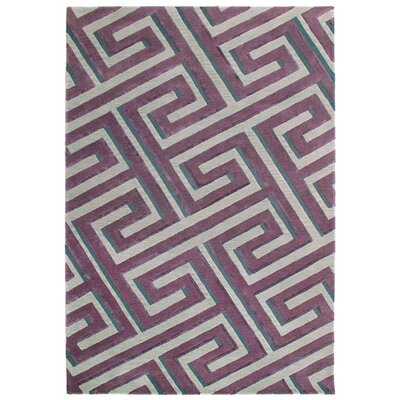 Roma Hand Tufted Plum Area Rug Rug Size: Rectangle 5 x 8