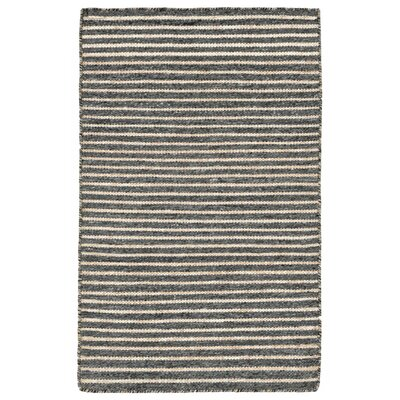 Blueridge Hand-Woven Charcoal Indoor/Outdoor Area Rug Rug Size: 36 x 56