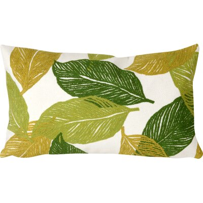 Garduno Mystic Leaf Indoor/Outdoor Lumbar Pillow Color: Green