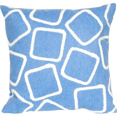 Colley Throw Pillow Color: Blue