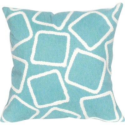 Colley Throw Pillow Color: Aqua