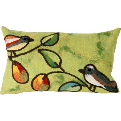Nunnally Song Birds Indoor/Outdoor Lumbar Pillow Color: Green