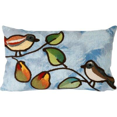 Nunnally Song Birds Indoor/Outdoor Lumbar Pillow Color: Blue
