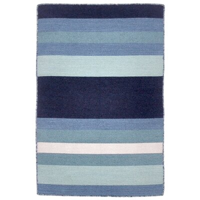 Ranier Hand-Woven Blue Indoor/Outdoor Area Rug Rug Size: 2 x 3