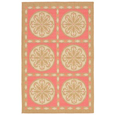 Coeur Tile Pink/Green Indoor/Outdoor Area Rug Rug Size: Rectangle 33 x 411