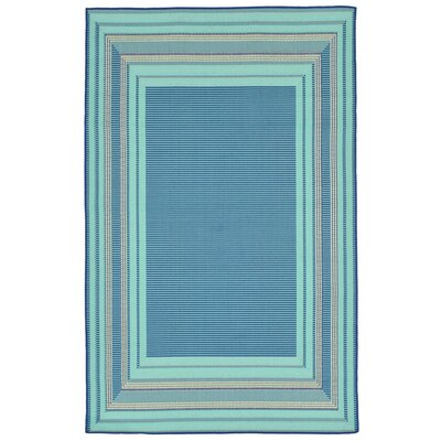 Clatterbuck Etched Blue Indoor/Outdoor Area Rug Rug Size: 410 x 76