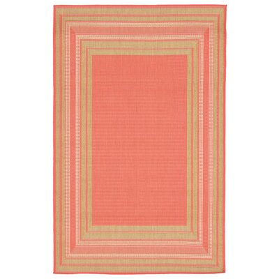 Clatterbuck Etched Pink Indoor/Outdoor Area Rug Rug Size: 33 x 411