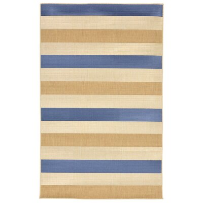 Larana Stripe Beige/Blue Indoor/Outdoor Area Rug Rug Size: 410 x 76