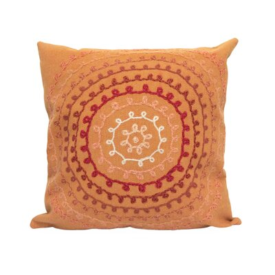 Medlock Ombre Threads Outdoor Throw Pillow Size: 20 x 20, Color: Coral