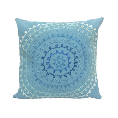 Medlock Ombre Threads Outdoor Throw Pillow Size: 20 x 20, Color: Aqua