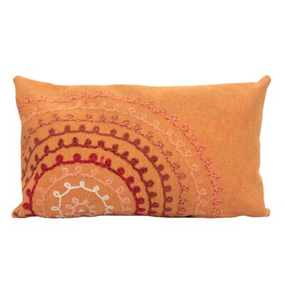 Ira Ombre Threads Outdoor Lumbar Pillow Color: Coral