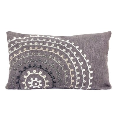 Medlock Ombre Threads Outdoor Lumbar Pillow Color: Grey