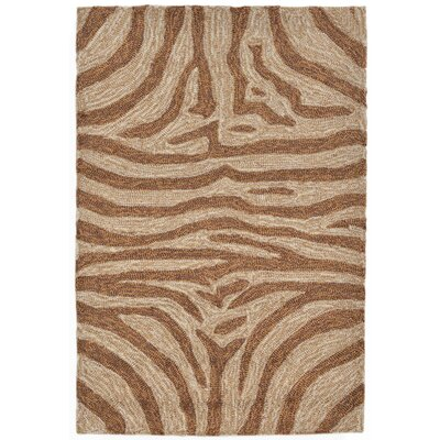 Abboud Brown Zebra Outdoor Rug Rug Size: 76 x 96