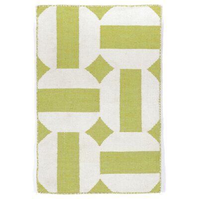 Assisi Green Circles Indoor/Outdoor Area Rug Rug Size: 83 x 116