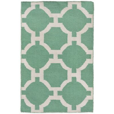 Assisi Aqua Tile Indoor/Outdoor Area Rug Rug Size: 76 x 96
