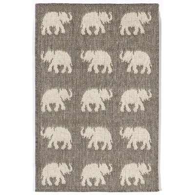 Slimane Silver Elephants Indoor/Outdoor Area Rug Rug Size: Rectangle 111 x 211