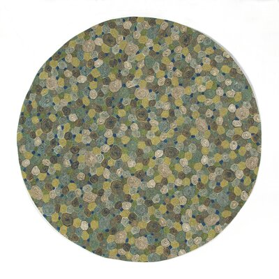 Derek Swirls Indoor/Outdoor Rug Rug Size: Round 8