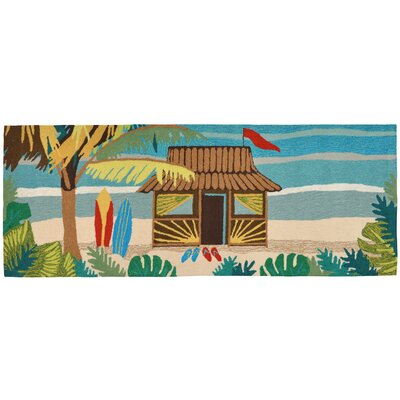 Cohee Tiki Hut Multi Indoor/Outdoor Area Rug Rug Size: Runner 2'3