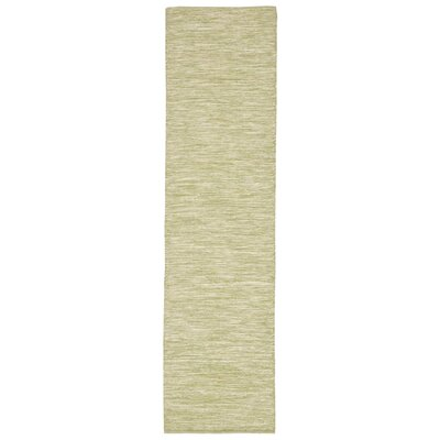 Boerner Hand-Woven Green Indoor/Outdoor Area Rug Rug Size: 36 x 56