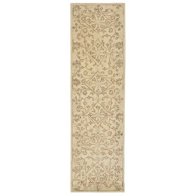 Adella Hand-Tufted Natural Area Rug Rug Size: Runner 23 x 8