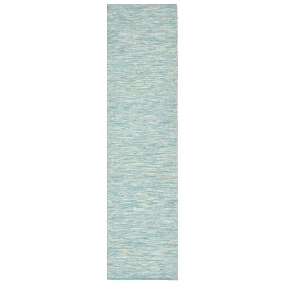 Boerner Hand-Woven Blue Indoor/Outdoor Area Rug Rug Size: Runner 2 x 8