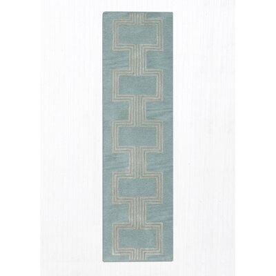 Gaydos Hand-Tufted Aqua Area Rug Rug Size: 5 x 8