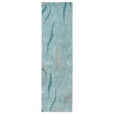 Roma Hand-Tufted Teal Area Rug Rug Size: Runner 23 x 8