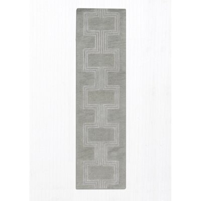 Roma Hand-Tufted Gray Area Rug Rug Size: Runner 23 x 8