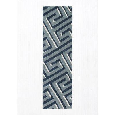 Gaydos Hand-Tufted Denim Area Rug Rug Size: Runner 23 x 8
