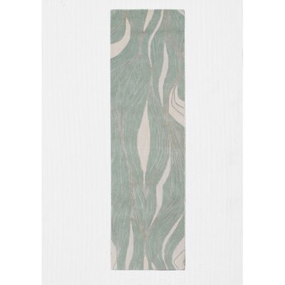 Roma Hand-Tufted Green Area Rug Rug Size: Runner 2'3