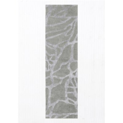 Roma Hand-Tufted Wool Gray Area Rug Rug Size: Runner 23 x 8
