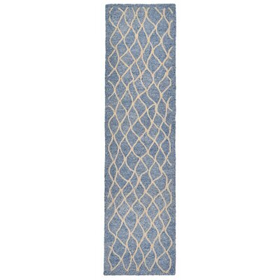 Bogard Hand-Tufted Gray Indoor/Outdoor Area Rug Rug Size: Runner 2 x 8