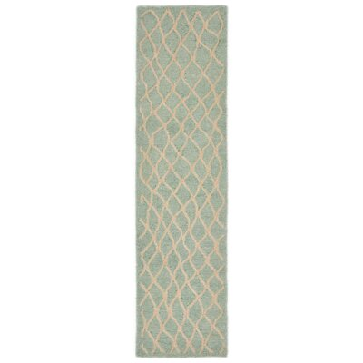 Bogard Hand-Tufted Aqua Indoor/Outdoor Area Rug Rug Size: Runner 2 x 8