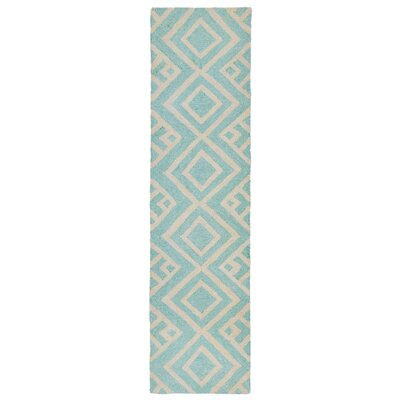 Chamness Hand-Tufted Aqua Indoor/Outdoor Area Rug Rug Size: 76 x 96