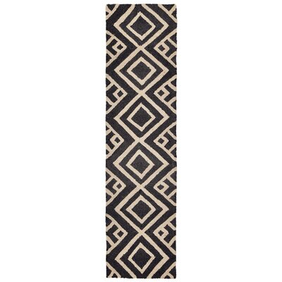 Chamness Hand-Tufted Charcoal/Beige Indoor/Outdoor Area Rug Rug Size: Runner 2 x 8