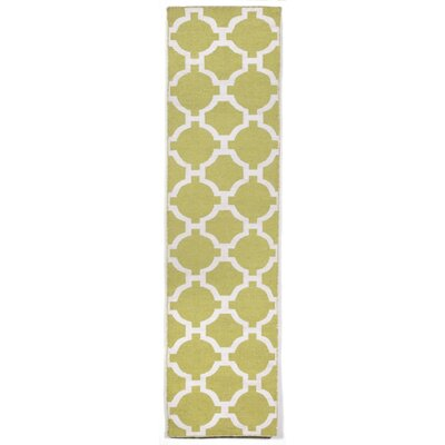 Assisi Hand Woven Lime Indoor/Outdoor Area Rug Rug Size: Runner 2 x 8