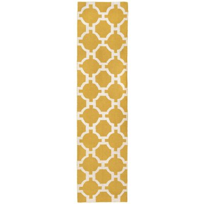 Assisi Tile Hand Woven Yellow Indoor/Outdoor Area Rug Rug Size: Runner 2 x 8