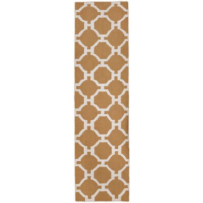 Assisi Hand Woven Khaki Indoor/Outdoor Area Rug Rug Size: Runner 2 x 8